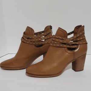 Frye Naomi Pickstitch Leather Bootie